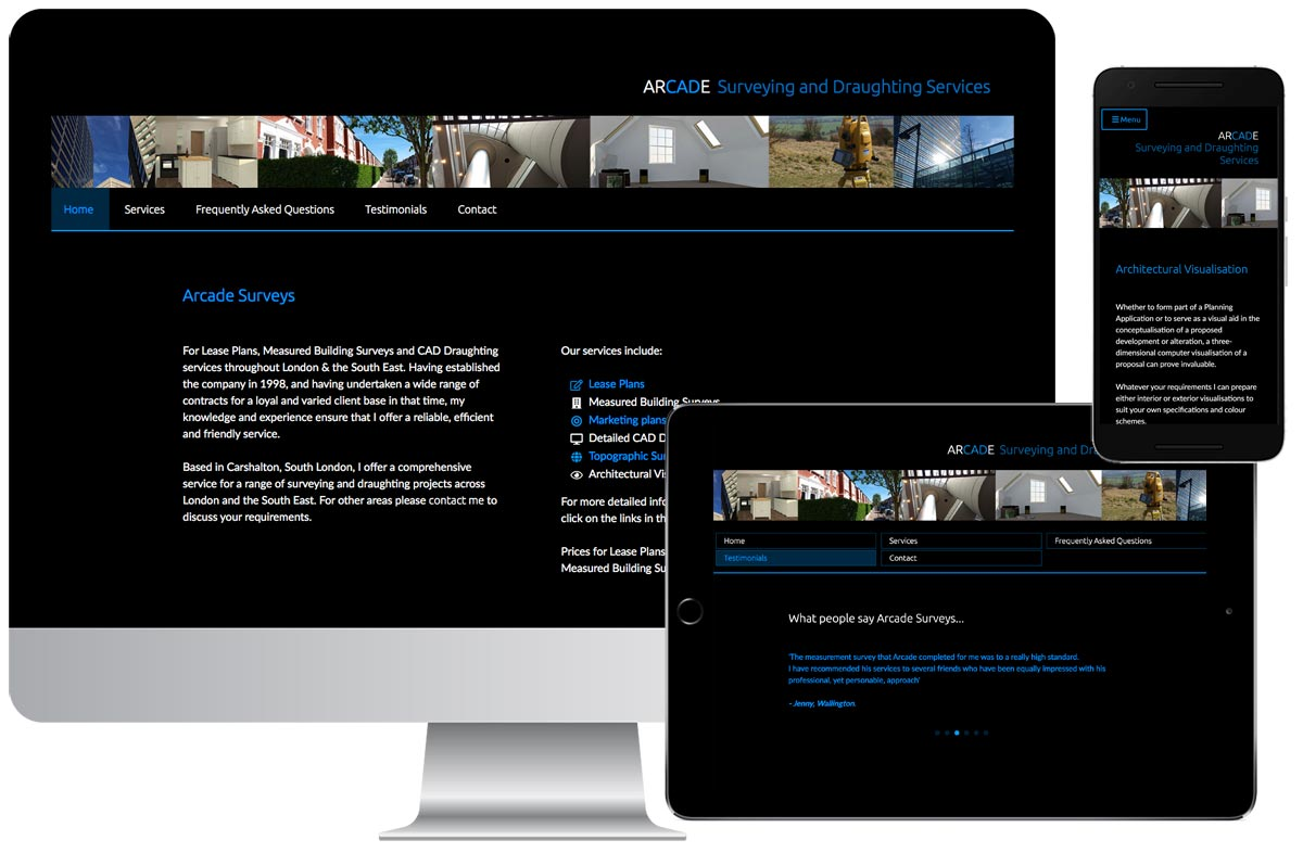 Arcade Surveys Website
