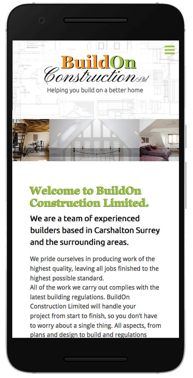 Buildon Construction website mobile