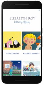Elizabeth Roy Literary Agency website on mobile