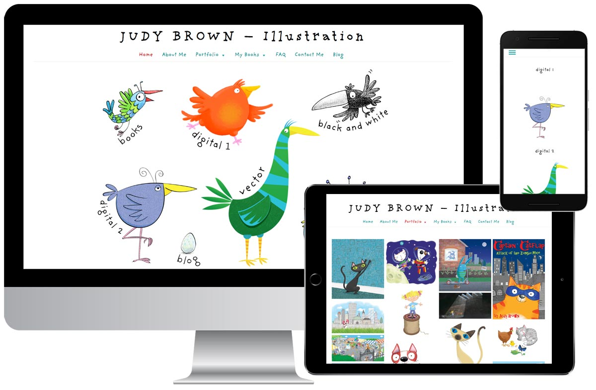 Judy Brown, freelance illustrator website