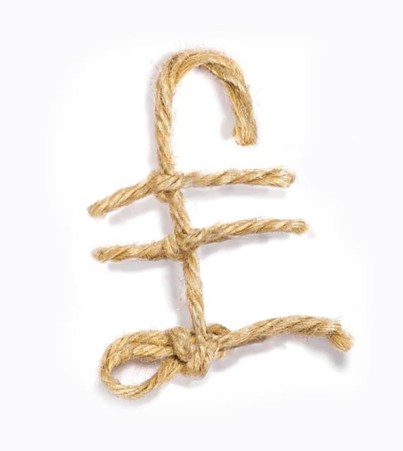 Piece of string pound sign.