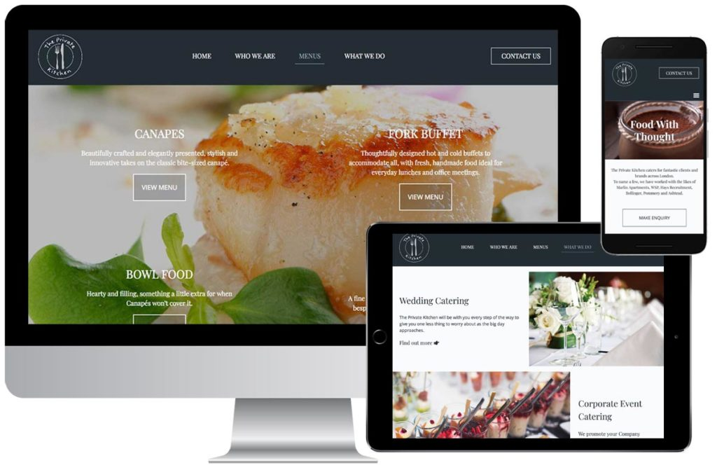 The Private Kitchen website
