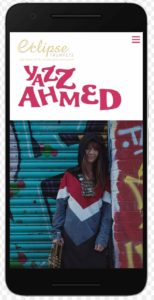 Yazz Ahmed website mobile view
